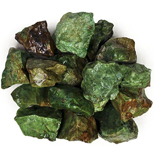 (Hypnotic Gems Materials: 11 lbs Bulk Rough Chrysoprase Stones from Madagascar - Raw Natural Crystals for Cabbing, Tumbling, Lapidary, Polishing, Wire Wrapping, Wicca & Reiki Crystal Healing )