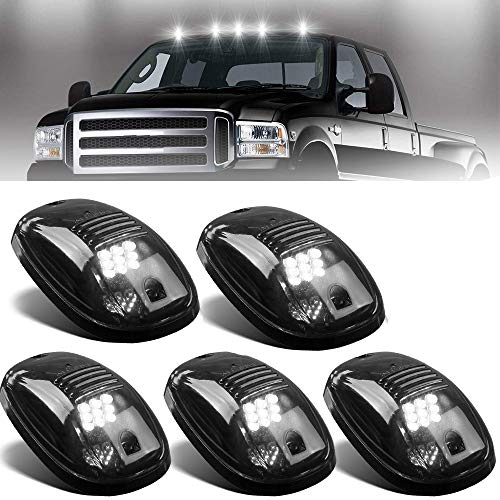 - NPAUTO 5pcs Smoked LED Cab Marker Lights White 9 LED Roof Top Clearance Lights Running Lights for 2003-2018 Dodge Ram 1500 2500 3500 4500 5500 Pickup Truck