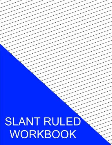 Slant Ruled Workbook: Wide Ruled Right Handed Low Angle