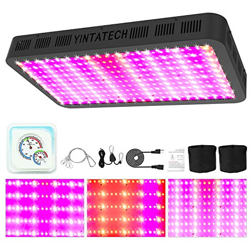 YINTATECH 3000W LED Grow Light, Full Spectrum Growing Lamp for Grow Tent Indoor Hydroponic Greenhouse Plants Veg and Flower with Daisy Chain, Hanging Kit, Grow Bags, Hygrometer Thermometer