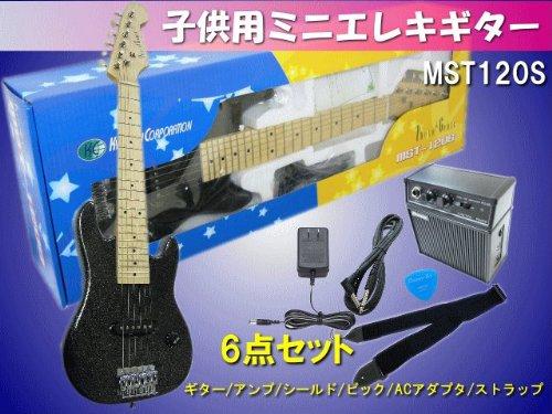 【特別訳あり特価】 子供用 ミニエレキギター ミニエレキギター MST120S MST120S 子供用 メタリックブラック:6点セット B00APZXEFS, やさしい暮らし:e0e74252 --- suprjadki.eu