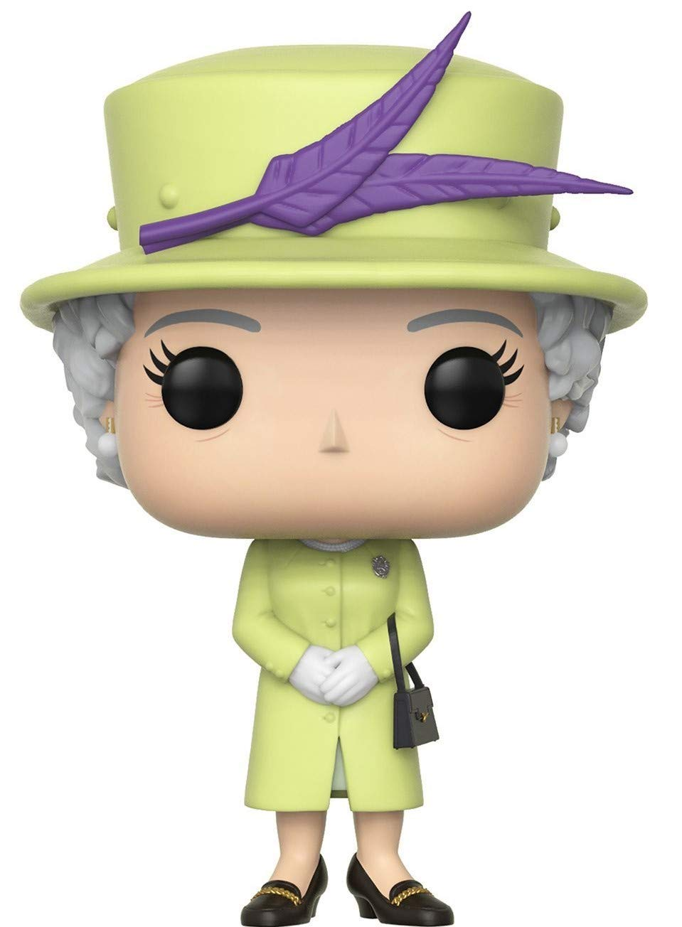 Funko Pop Bundled with Pop Box Protector Case Green Outfit Vinyl Figure Queen Elizabeth II Royals: The Royal Family