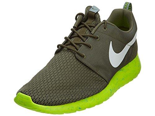 Nike Roshe Run M Men s Shoes Medium Olive White-MC Green-Volt 669985-200