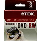TDK 4X DVD-RW 8CM 1.4 GB DVD-RW 3 Pack in Jewel Case
