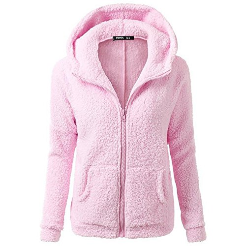 smartland-womens-winter-long-sleeve-full-zip-soft-fleece-hooded-jumper-hoody-jacket-coat-s-pink