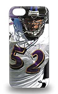 Hot Fashion Design Case Cover For Iphone 5/5s Protective Case NFL Baltimore Ravens Ray Lewis #52 ( Custom Picture iPhone 6, iPhone 6 PLUS, iPhone 5, iPhone 5S, iPhone 5C, iPhone 4, iPhone 4S,Galaxy S6,Galaxy S5,Galaxy S4,Galaxy S3,Note 3,iPad Mini-Mini 2,iPad Air ) 3D PC Soft Case