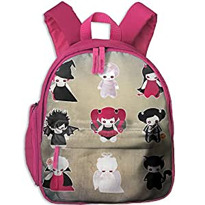 Halloween Figure Vector Children Sturdy And Durable School Backpacks