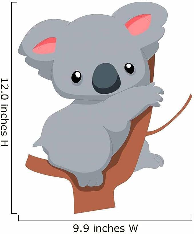 show original title Details about  /3D Cute Koala M115 Animal Wallpaper Mural Self Adhesive Removable Angelia