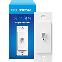 Lutron Aurora Wallplate Bracket For Paddle/Decorator Switch   For use with Aurora Smart Bulb Dimmer   L-AWALL1-WH…