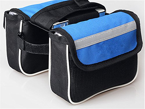Surborder Shop Popular Bicycle Cycling Top Tube Saddle Bag Bike Frame Pannier Bag Rack Double Side with Mobile Phone - Frames Popular