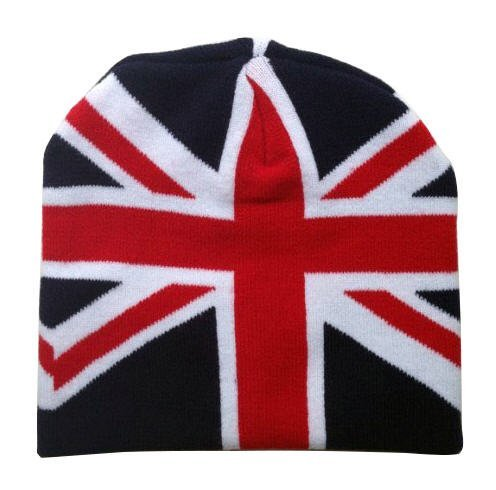 c4561acda4013 Image Unavailable. Image not available for. Color  UK FLAG Union Jack  Beanie Winter Hat