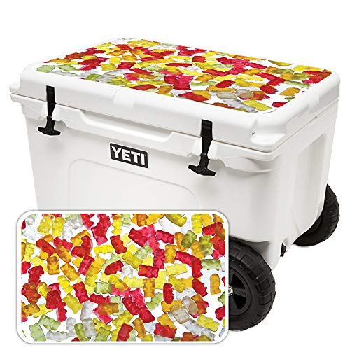 MightySkins Skin for Yeti Tundra Haul Cooler Lid - Gummy Bears | Protective, Durable, and Unique Vinyl Decal wrap Cover | Easy to Apply, Remove, and Change Styles | Made ()