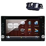 Free Backup camera + GPS Navigation 2 Din In Dash Universal Car Auto Audio Stereo Radio Video Automotive CD/DVD/ Multimedia Mp3 Player Steering wheel control USB/SD/Bluetooth