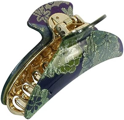 Blumenmuster Kunststoff 20 Claws Haar Clamp grüne Gold Blau DE de