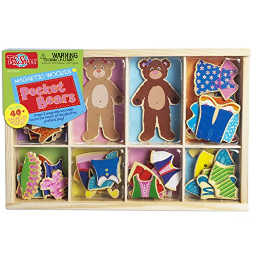 (T.S. Shure Pocket Bears Wooden Magnetic Dress-Ups)