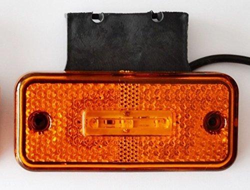 6/X 12/V Orange Ambre 3/LED lat/érales Feux de gabarit Supports en caoutchouc pour camion benne Camion caravane Camper Van Bus
