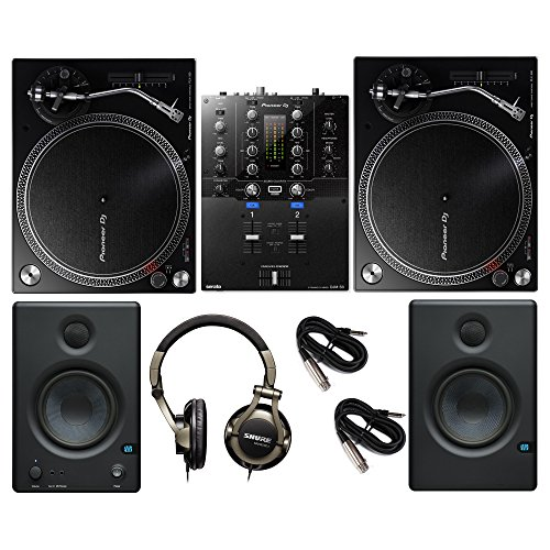 Pioneer PLX-500 & DJM-S3 Topset with Shure Headphones and Presonus Monitors