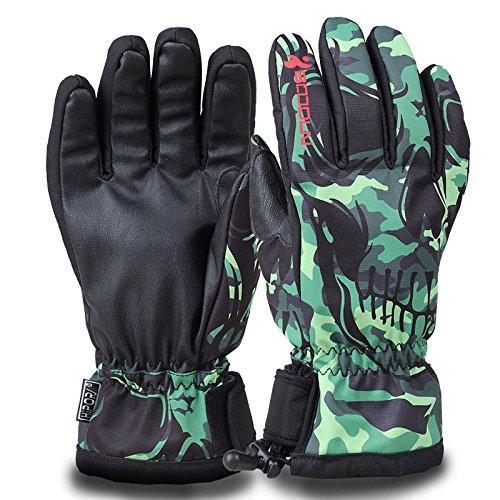 HiCool Winter Ski Gloves for Men Women Double Layer Thicken Warm Snowboard Waterproof Cold Weather Outdoor Gloves