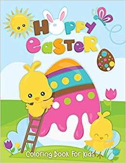 Happy Easter Coloring Book 50 Pages Easter Rabbit Bunny Chicken Egg And Others Children S Coloring For Kids Toddlers Teens Girls Boys Practice Pencil Black Paper Design Easy Simple Beginning Amazon De Press Ella