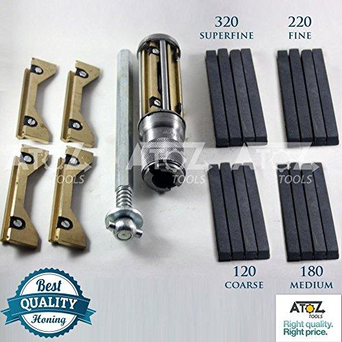 ATOZ Engine Cylinder Hone Kit HONING MACHINE + 4 set Honing Stones (62-88mm + 4 set stones) (Cylinder Engine Hone Kit)