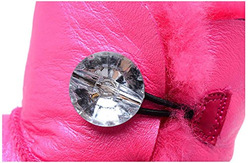 Damen Schneestiefel Winter Warm Anti Rutsch Schaffell Mini(Eine Größe zu klein) 1