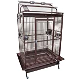 KING'S CAGES 8004030 PARROT CAGE 40x30x72 Play Pen Bird Cages toy cockatoo macaw (COPPERTONE)