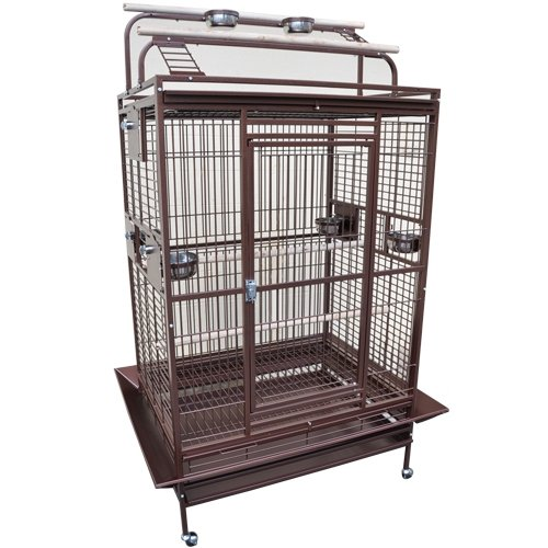 Hq Parrot Cages (KING'S CAGES 8004030 PARROT CAGE 40x30x72 Play Pen Bird Cages toy cockatoo macaw (COPPERTONE))