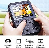 Bianco Scacciapensieri per Bimbi e Genitori Versione Ricaricabile Digitalkey Console Retro Game Portatile con Schermo 3.0 Inclusi 400 Videogiochi e Gamepad per Multiplayer