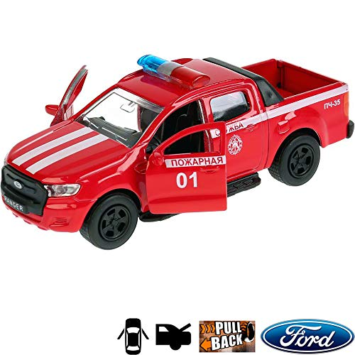 1:36 Scale Diecast Metal Model Car Ford Ranger Fire Truck Russian Die-cast Toy Cars (Ranger Truck Ford Toy)