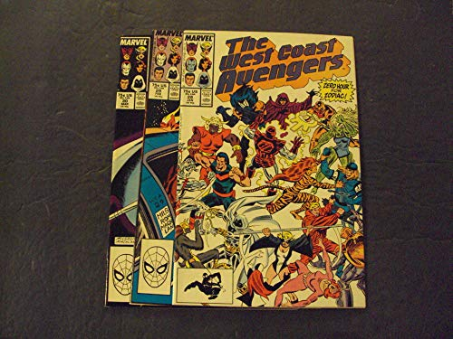 3 Iss West Coast Avengers #28-30 Copper Age Marvel Comics