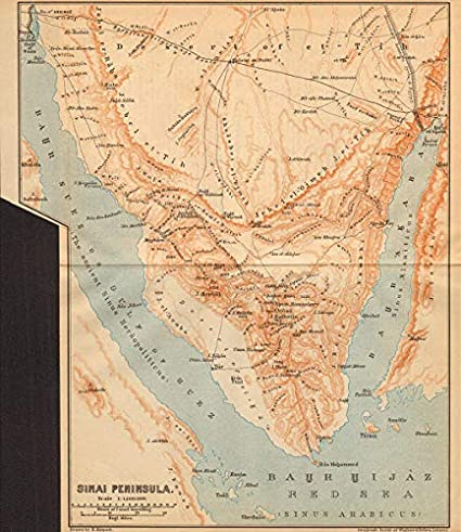 Amazon.com: Sinai Peninsula, Egypt. Gulfs of Aqaba & Suez ...