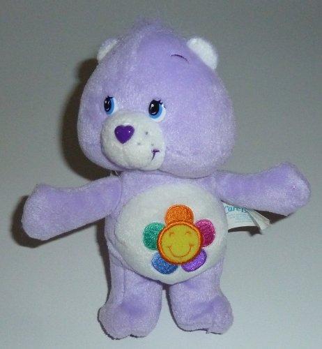 "2004 Care Bears 8"" Plush Harmony Bear Bean Bag Doll"