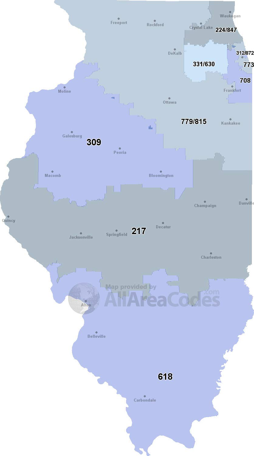 Amazon.com: Home Comforts Laminated Map - 312 Area Code Map Time ...