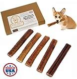 "Waghaus XL Bully Stick Dog Chews Made in USA, Ultra Premium Odor Free Rawhide Bone Alternative Treat, Thick 6"""