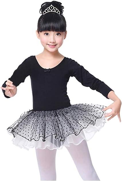 Gymnastics and Ballet 3-8 T Toddler//Little Girl//Big Girl XFGIRLS Girls Cotton Camisole Dress Leotard for Dance