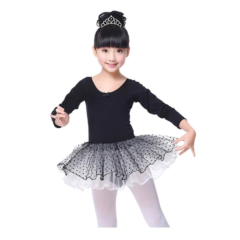 Xinvision Girls Tulle Ballet Dance Leotard Tutu Skirt Tiered Dress Dancewear