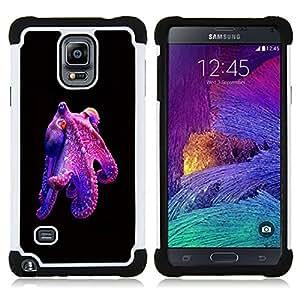 - octopus purple kraken monster diving/ H??brido 3in1 Deluxe Impreso duro Soft Alto Impacto caja de la armadura Defender - SHIMIN CAO - For Samsung Galaxy Note 4 SM-N910 N910