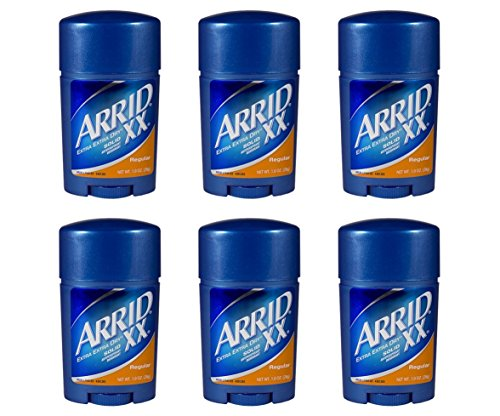 Arrid XX Regular Solid Extra Extra Dry Antipersirant Deodorant 1 oz Travel Size (Pack Of 6)