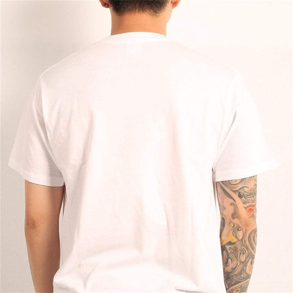 Men Casual Cotton Art Round Neck Summer Shirt