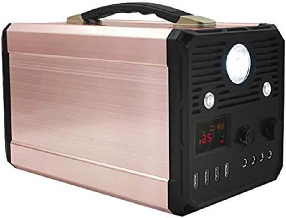 Generador solar portátil de 1000W UPS de pico de 3000w 120000MAH Batería de litio Fuente de alimentación de respaldo Emergencia con toma de CA, 4 USB ...