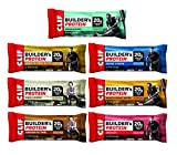 CLIF BUILDER'S – Protein Bar – 7-Flavor Variety Pack – (2.4 Ounce Non-GMO Bar, 14 Count)