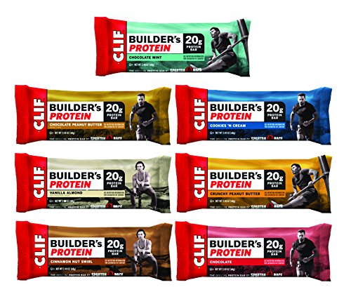 CLIF BUILDER'S - 7-Flavor Variety Pack - 2.4 Ounce Non-GMO Bar, 14 Count