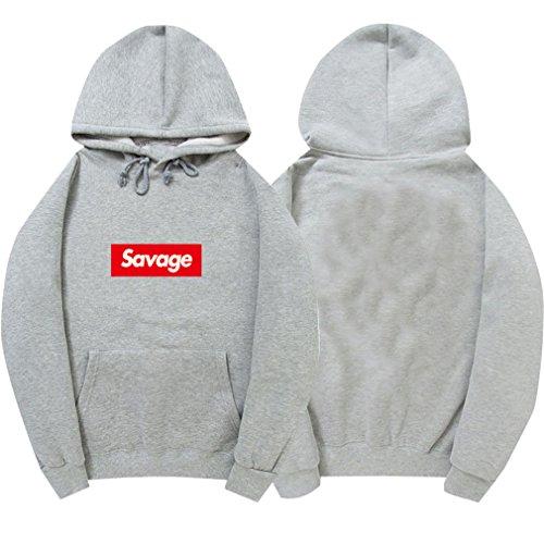 NEW 100% Cotton 21 Savage Street Wear Woolcotton Suprem Hoodies Parody No Heart X Savage Hoodie Sweatshirt Men Women Hip Hop 4 L (4l Shirt X)
