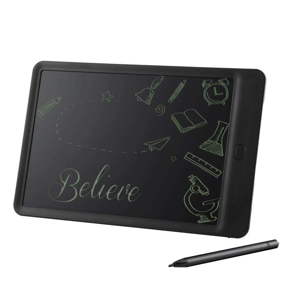 LESHP LCD Writing Memo Graffiti Board Tablet Office Children Gift Early Education Painting Drawing Board Easy-writing-10 inch (black)