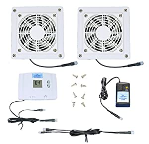 Amazon.com: 2-Zone AV Cabinet Multispeed Cooling Fans with Digital ...