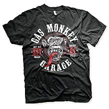 Officially Licensed Merchandise Gas Monkey Garage Round Seal Klassic T-Shirt (Black)
