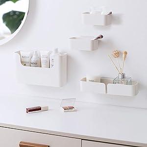 Dalanpa Floating Shelf Wall Mounted Non-Drilling Adhesive Bathroom Organizer Ledge Shelf for Home Decor