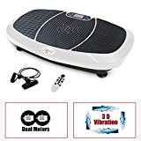 Clevr 3D Fitness Whole Body Vibrating Platform Exercise Machine, Dual Motor Full Body Vibration with Remote Control & Resistance Bands for Balance & Versatile Workouts, 360 Degree Shake, White Review