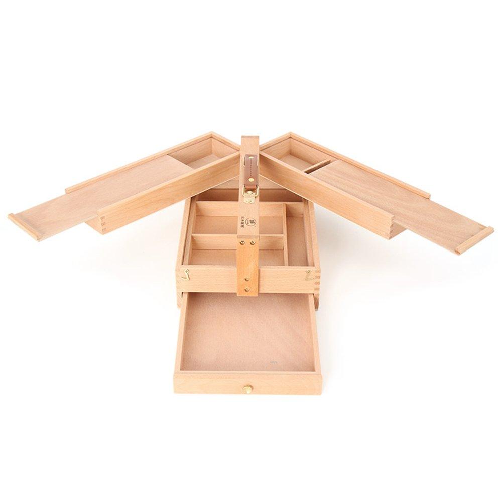 FXNN ペイントボックス – ファッションシンプルソリッド木製多目的引き出しボックス 折りたたみイーゼルツールボックス (サイズ:3623.515cm)   B07LCFBYR8