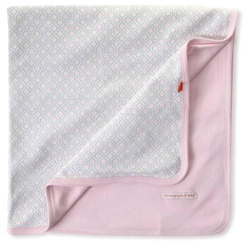Magnificent Baby-Girls Newborn Reversible Blanket, Pink Mod Dots, One - Mod Dots Pink